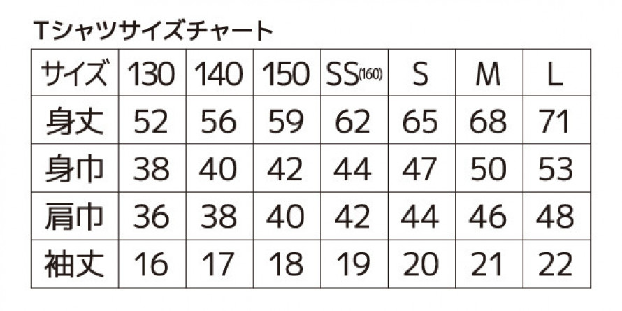 サイズチャート