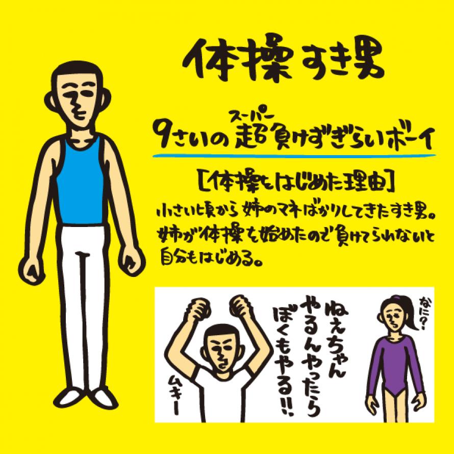 体操 すき男(タイソウスキオ)プロフィール